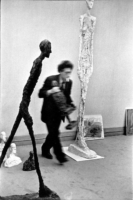 Photograph of Alberto Giacometti by Henri Cartier-Bresson