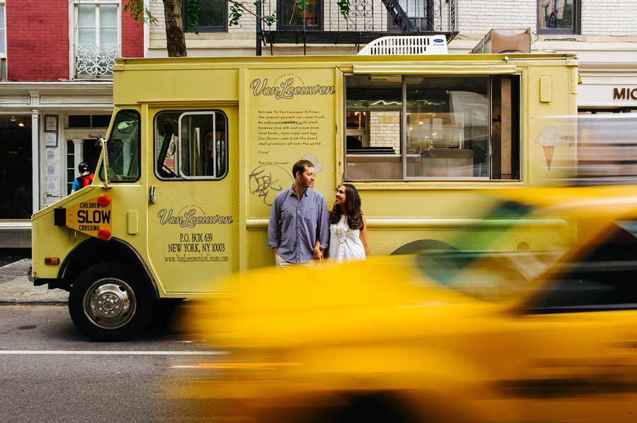 New York City Engagement Ice Cream