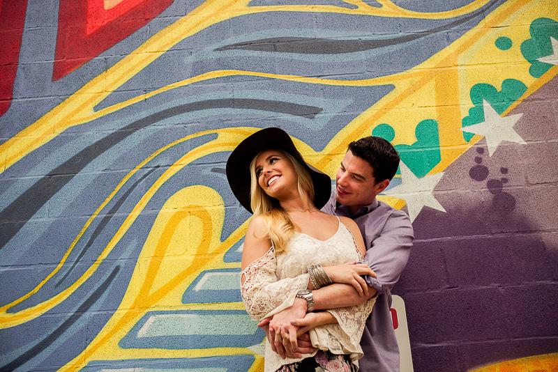 Gonzos 24/7 Graffiti mural, Houston, Engagement Session
