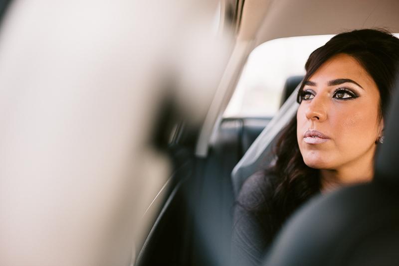 San Antonio wedding photographer. Philip Thomas -The bride in car to church