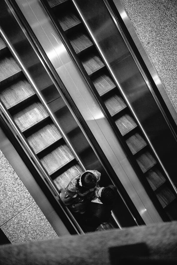 Kiss on stairs  Sheraton Mahwah Hotel New Jersey