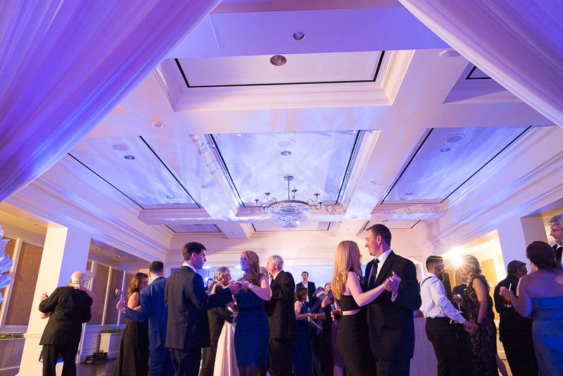 Beautiful uplighting at River Oaks Country Club, Houston, Texas wedding reception