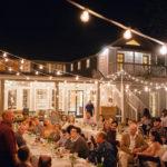 Guests toast Hoffman Haus