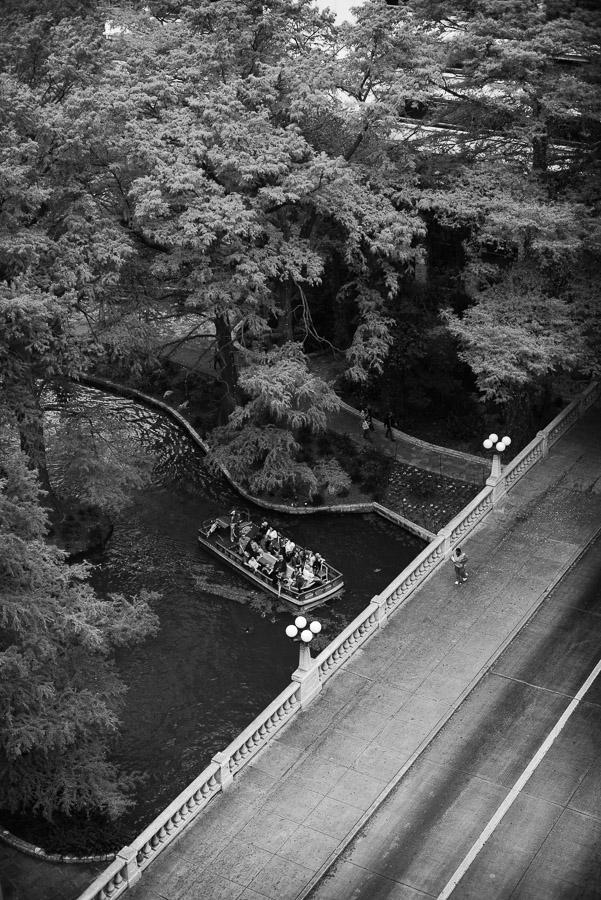 Looking down to the riverwalk from Westin Riverwalk