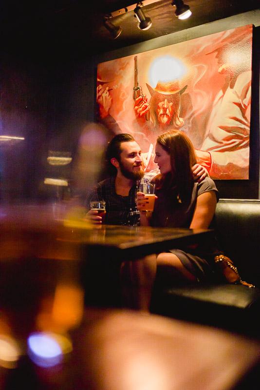 Liberty Bar Engagement photos in Austin, Texas