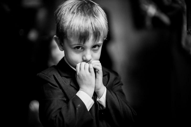 A shy ring bearer- San Fernando Cathedral, San Antonio, Texas