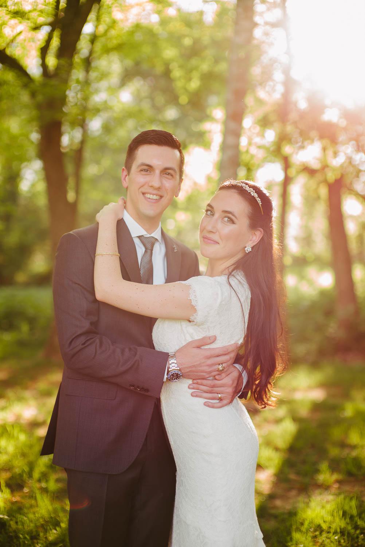 Couple pose for wedding portrait Pecan Springs Houston Texas photo by Philip Thomas Photography
