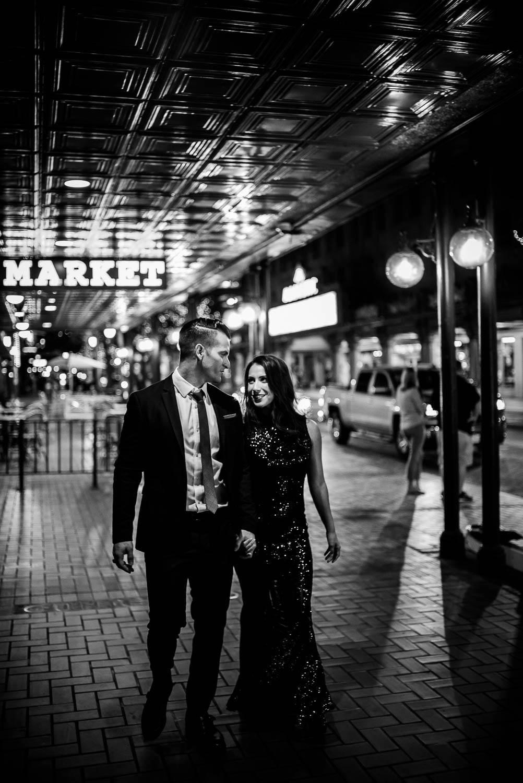 Couple walking Downtown San Antonio Engagement photos-17