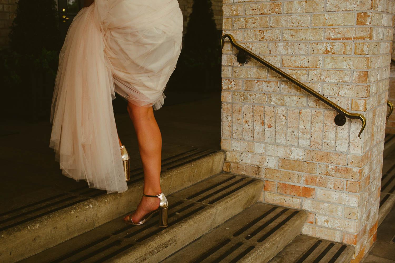 Brides leg at Rice university Houston-Leica photographer-Philip Thomas Photography
