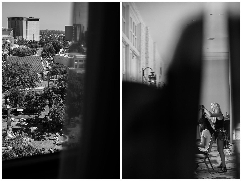 A peek through windows at a Wedding St Anthony Reception-Philip Thomas