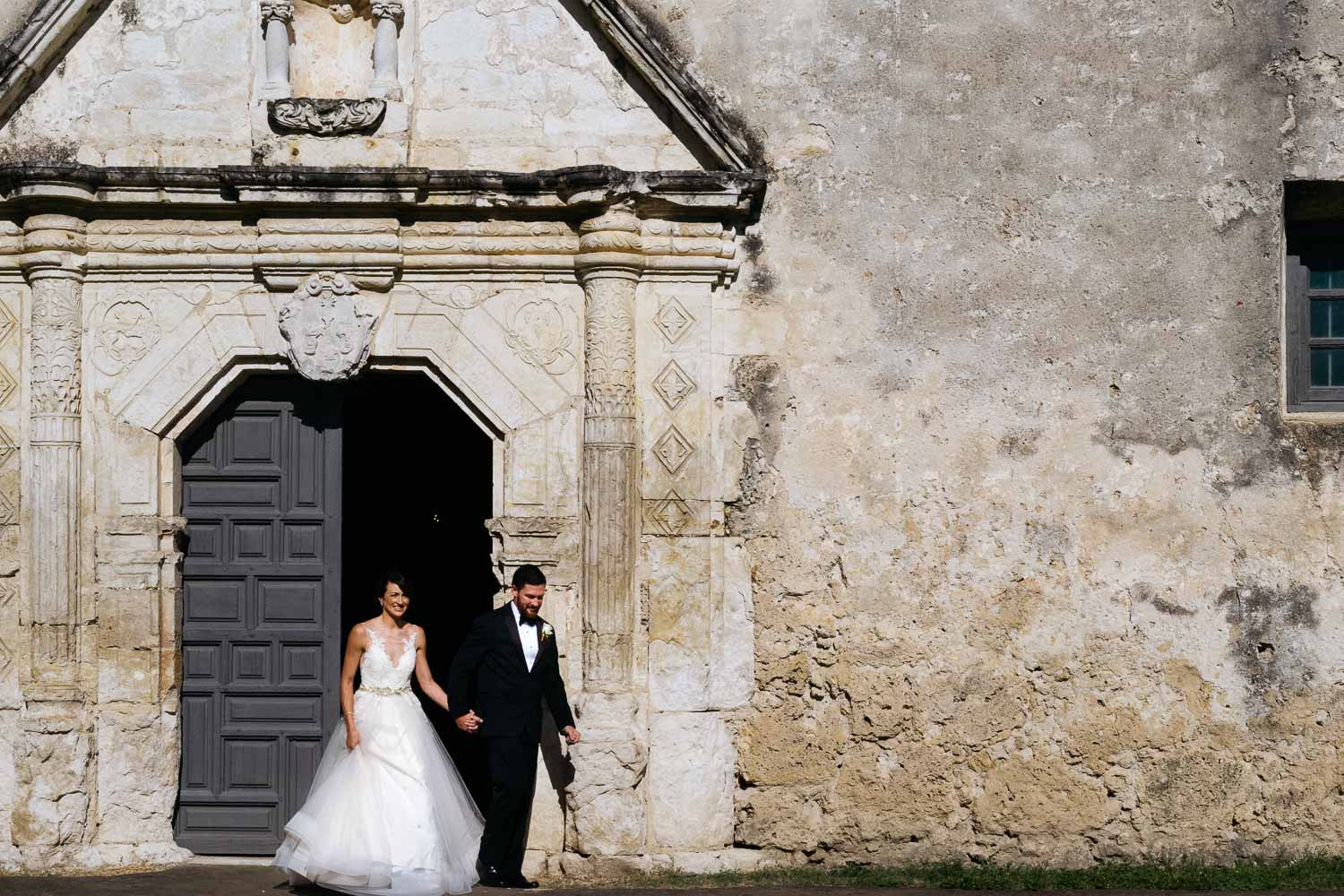 Wedded couple depart Located at 807 Mission Road, Concepción is the best preserved of the Texas missions.