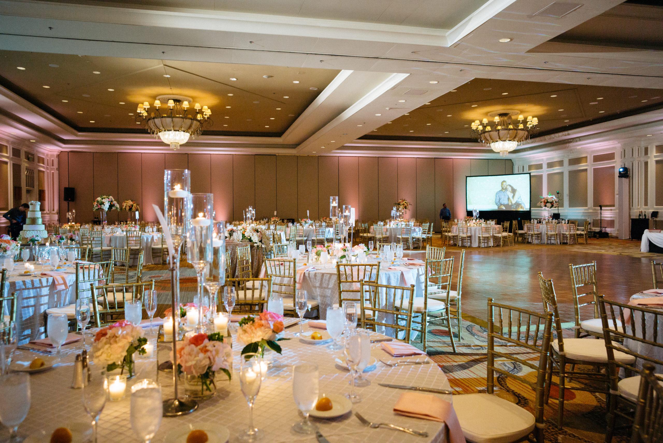 Room decor at hotel Hindu Jewish fusion wedding Sugar Land Marriott Hotel Texas-077