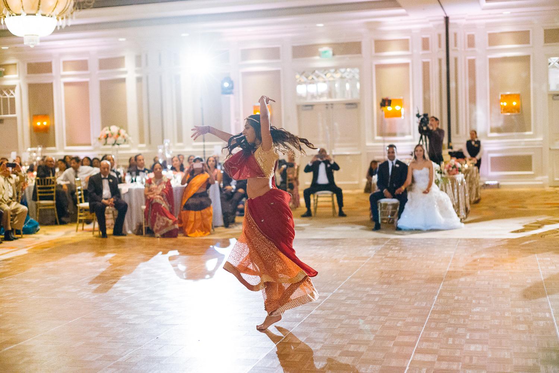 Traditional Tulsi dance Hindu Jewish fusion wedding Sugar Land Marriott Hotel Texas-085