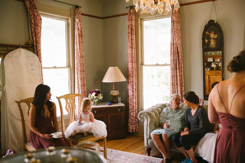 Bride and guests wait at Barr Mansion Austin Wedding Photos-Philip Thomas