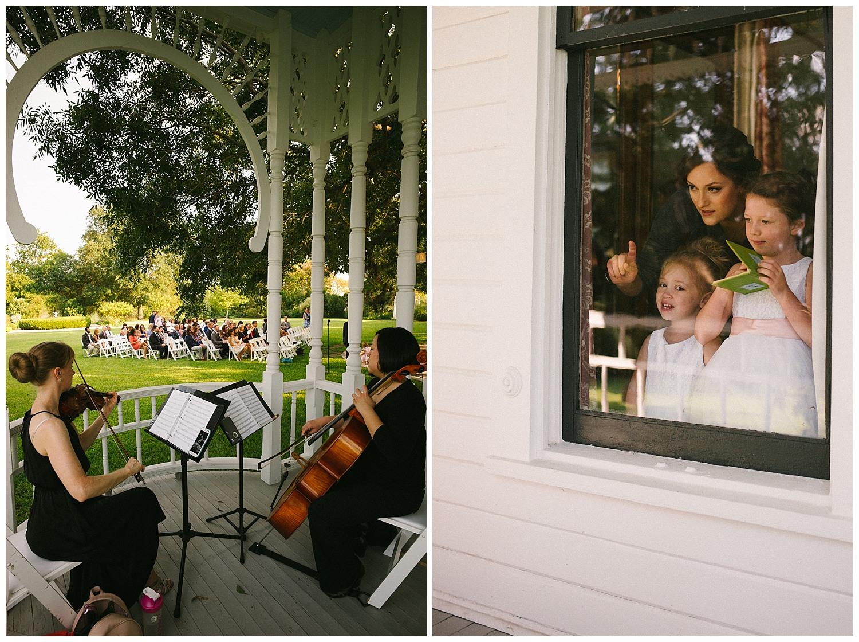 The violinists during wedding ceremony Barr Mansion Austin Wedding Photos-Philip Thomas