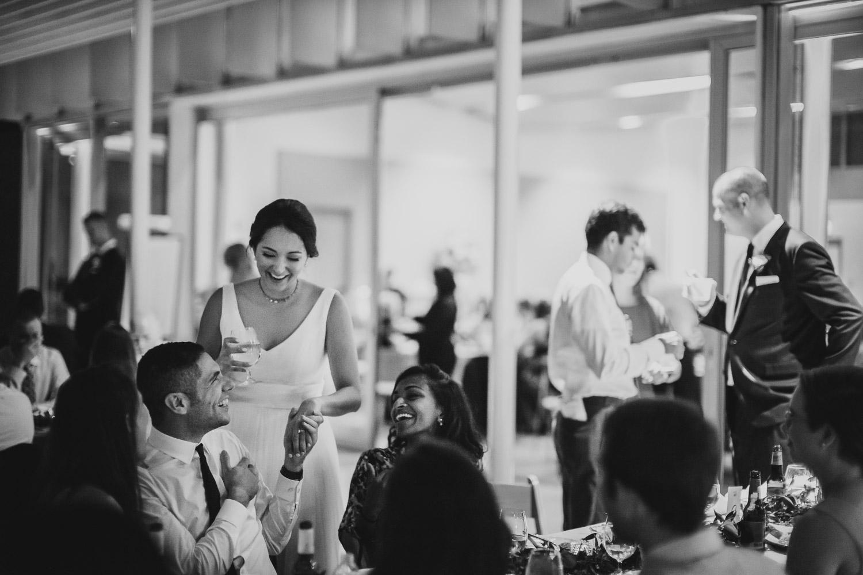 Jokes shared with bride and guest wedding reception Cherie Flores Garden Pavilion Wedding Hermann Park Houston Texas-Philip Thomas
