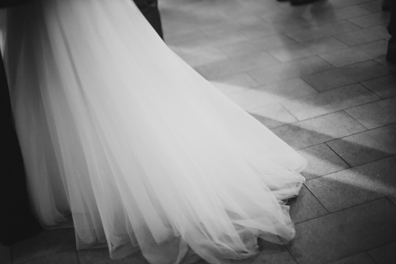 Brides dress on wedding reception floor Cherie Flores Garden Pavilion Wedding Hermann Park Houston Texas-Philip Thomas
