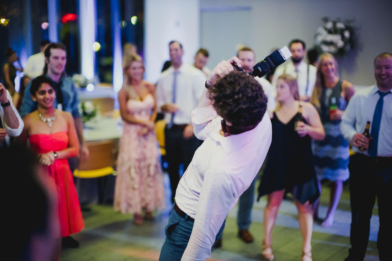 Reception guest dancing Cherie Flores Garden Pavilion Wedding Hermann Park Houston Texas-Philip Thomas