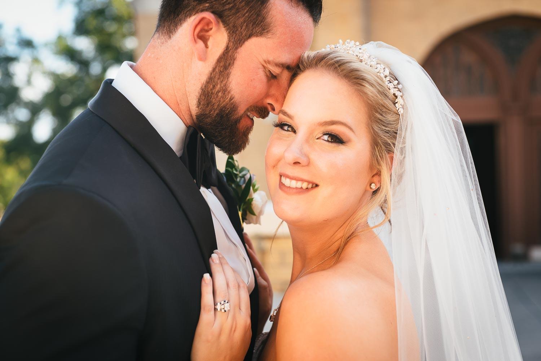 Couple posed shot at acred-Heart-Chapel-Pvt-Rd-San-Antonio-Wedding-Leica-wedding-documentary-photographer-Philip-Thomas-Photography with beautiful light