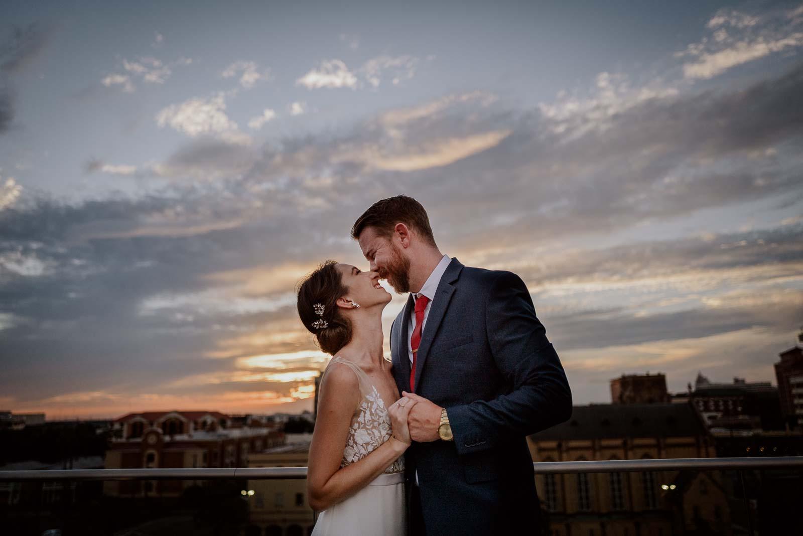 032 The Fairmount Hotel Rooftop Oyster Bar Wedding Reception Leica photographer Philip Thomas Photography